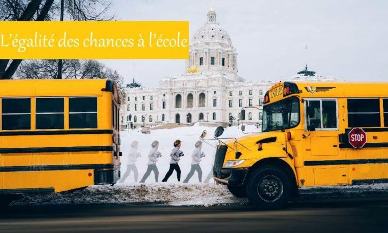 égalité des chances à l'école