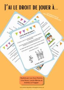 idées d'activités ou de jeux à proposer à la récréation des élèves