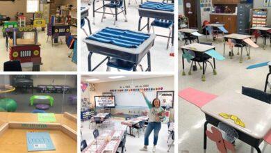 idées décoration salle de classe covid