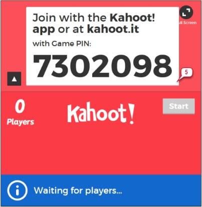 numéro de Pin de jeu kahoot