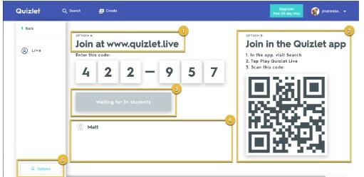 Quizlet Live extension