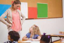 institutrice en colère